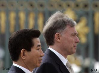 President Roh Moo-Hyun and his German counterpart Horst Köhler