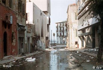 Bürgerkrieg in Libanon Straße in Beirut
