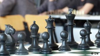 Black chess pieces ready for a game