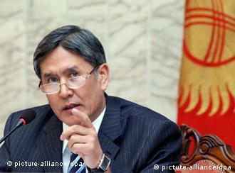 FILE - Than Vice premier for economic matters Almazbek Atambayev attends a news conference of opposition leaders in Bishkek, Kyrgyzstan 08 April 2010. Almazbek Atambayev runs for Presidency in the upcoming elections in Kyrgyzstan on October 30, 2011. EPA/IGOR KOVALENKO (Zu dpa Kirgistan wählt nach blutigem Umbruch neuen Präsidenten)