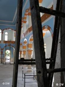 The synagogue's interior