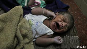 Newly born babies lie at a government hospital in Hyderabad, India, Monday, Oct. 31, 2011 (Photo: Mahesh Kumar A./AP/dapd)