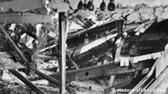 Munich's Bürgerbräukeller after the explosion in 1939