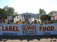 Protesto contra alimentos transgênicos em Washington