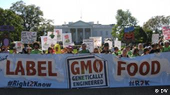 Monsanto Demonstranten vor dem Weißen Haus
