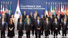 Cannes G20 Gipfel Frankreich Gruppenbild