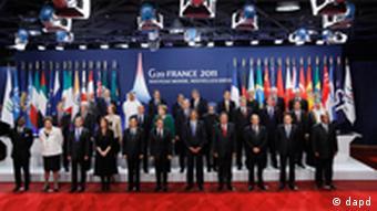 Gruppenbild des G20-Gipfeltreffens in Cannes(Foto: dapd)