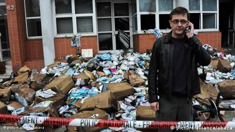 Frankreich Presse Brandanschag gegen Charlie Hebdo in Paris Flash-Galerie