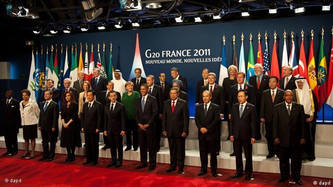 Flash-Galerie Cannes G20 Gruppenfoto