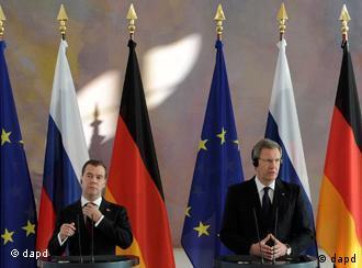 Президенты России и ФРГ
