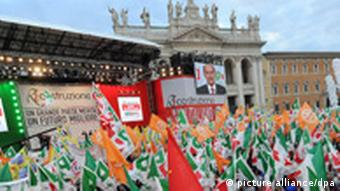 Italien Demokratische Partei PD Demonstration Rom