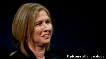 Zipi Livni applaudierend (Foto: picture-alliance/abaca)