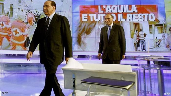 Italien Flash-Galerie Silvio Berlusconi im Fernsehen Porta a Porta 2009