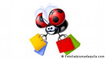 Symbolbild: Ein Marienkäfer mit Geschenktüten