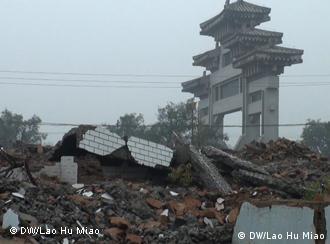 Wohnhäuser in Huashan wurden zwangsweise abgerissen; 20 Okt. 2011, Shanxi; Copyright: DW/Lao Hu Miao