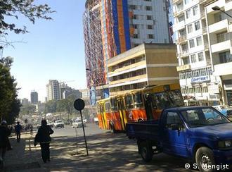 Flash-Galerie Der Blick aus meinem Fenster Addis Abeba Äthiopien