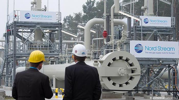 Wochenrückblick Kalenderwoche 2011 45 Deutschland Russland Gas Logo der Firma Nord Stream in Lubmin