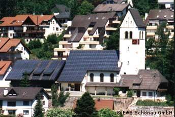 Kirchendach, EWS Schönau GmbH, Spezialbild