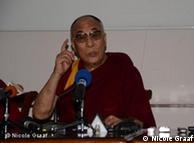 达赖喇嘛在结束对蒙古的访问前举行记者发布会