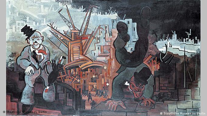 Wahnsinnige Harlekine vor den Trümmern des Krieges II (1945/51) von Heinrich Ehmsen (Foto: Staatliche Museen zu Berlin)