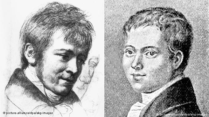 Генрих фон Клейст в 1801 (справа) и 1808 годах