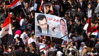 Pro Assad Demonstration in Syrien