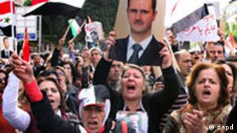 Syrien Pro-Assad Demonstration