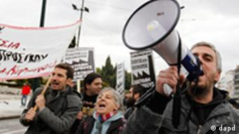 Protest gegen Sparmaßnahmen in Griechenland
