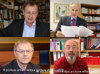 Die Extremismusforscher Hajo Funke, Christian Pfeiffer, Christoph Butterwegge und Eckhard Jesse (im Uhrzeigersinn) (Fotos: picture-alliance/dpa)