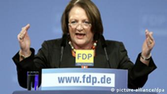 Bundesjustizministerin Leuthesser-Schnarrenberger