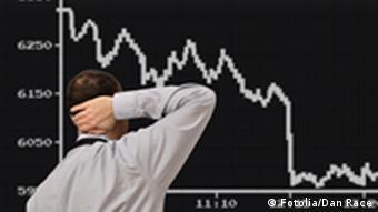 Symbolbild Börsenverlauf nach unten (Foto: fotolia)
