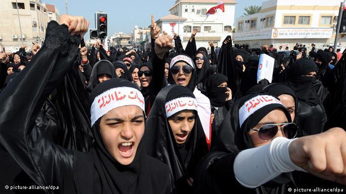 Proteste beim Arabischen Frühling 2011 in Bahrain (Foto: EPA/MAZEN MAHDI)