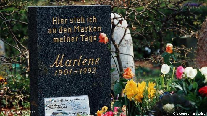 Grabstein von Marlene Dietrich (picture-alliance/dpa)
