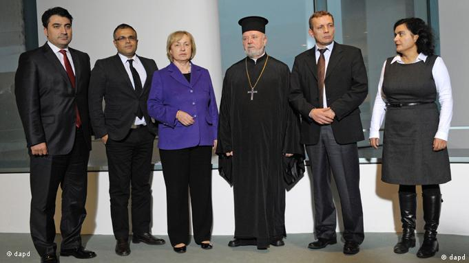 Böhmer with German religious leaders