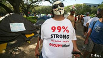 USA Finanzkrise Demonstration Occupy Miami