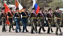 ie russischen Soldaten in Tadschikistan an der offiziellen Zeremonie der Eröffnung des Militärbase, Duschanbe , November 2011 Foto: DW/Galym Fashutdinov 10.10.2011
