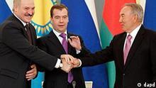 Russland Weißrussland Kasachstan beschließen eurasischen Wirtschaftsunion