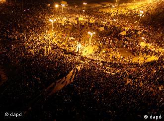 La place Tahrir, épicentre de la contestation égyptienne