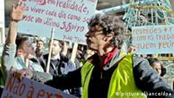 Ground staff protest at Lisbon Airport