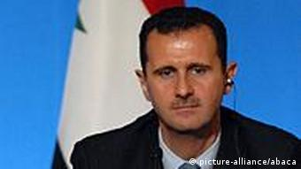 File Photo. The United States will call for Syria's President Bashar- El Assad to step down. The movie follows attempts to stop El Assad's regime brutality against his people who are seeking democratic reforms. In this Picture Syrian President Bashar Al-Assad during a press conference at the Elysee Palace in Paris, France on July 12, 2008. Photo by Raymond Delalande/JDD/ABACAUSA.COM
