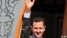 Syrien Präsident Baschar al Assad in Raqqa