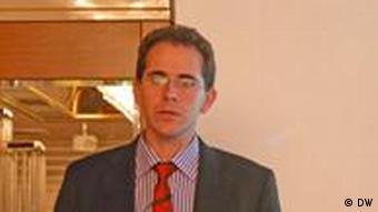 Professor Nir Shaviv, Astrophysiker von der Hebrew University Jerusalem hält einen Vortrag über den Einfluß kosmischer Strahlung auf das Klima auf der 4. Internationalen Klima- und Energiekonferenz in München am 25.11.2011(Foto: Fabian Schmidt/ DW)
