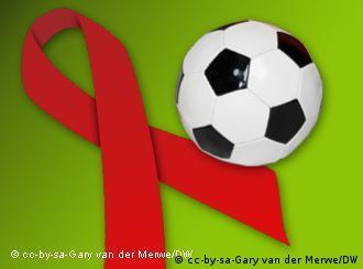 Стрічка бортьби зі СНІДом та м'яч
