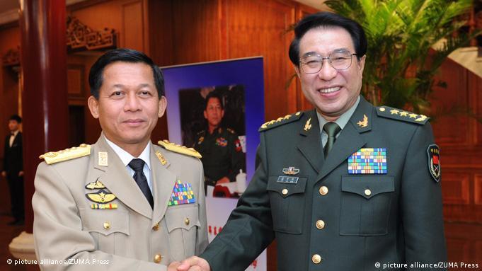 Min Aung Hlaing Militär Kommandant Birma und Xu Caihou Militär China