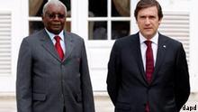 Gipfeltreffen Mosambik Lissabon Armando Guebuza und Pedro Passos Coelho