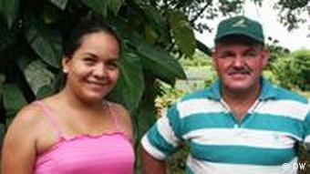 Basilio Rodriguez und Yiorely Villalobos von der Kooperative AgroNorte
