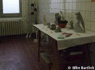 O ateliê de Sabine Bibow: aluguéis caros de Hamburgo fizeram com que a artista se mudasse para Berlim