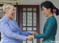 دومین ملاقات کلینتون در منزل سان سوچی در رانگون