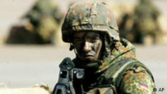 An armed Bundeswehr soldier