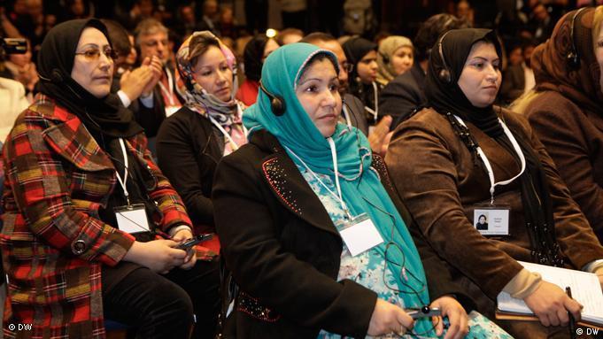 Weibliche Teilnehmer beim Bonner Forum der Zivilgesellschaft (Foto: DW)